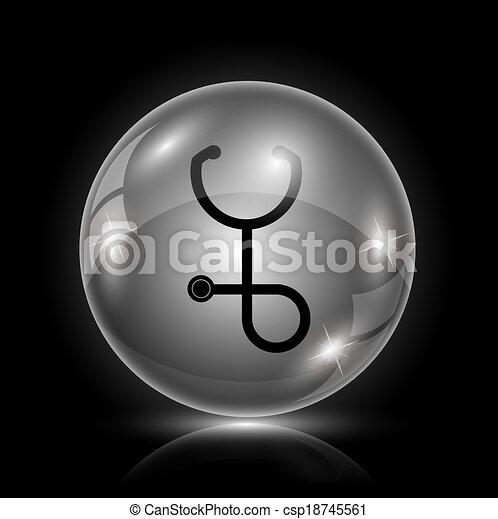 estetoscópio, ícone - csp18745561