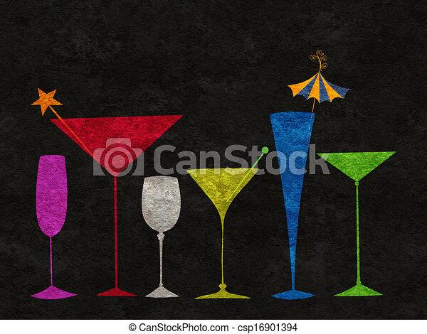 Bebidas estilizadas seguidas - csp16901394