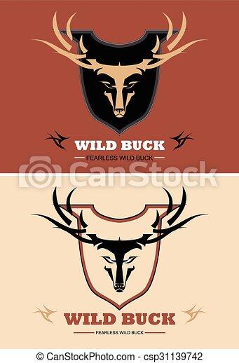 Estilizado como un ciervo salvaje - csp31139742