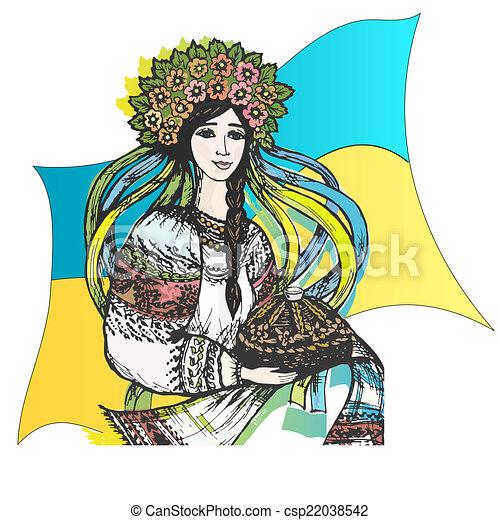 ¡Imágenes estilizadas de Ucrania, bienvenida! - csp22038542
