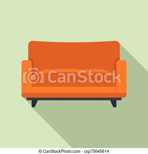 estilo, ícone, apartamento, poltrona, sofá - csp75645614
