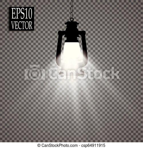 estilo, ícone, símbolo, mina, ilustração, isolado, experiência., vetorial, pretas, branca, lanterna, estoque - csp64911915