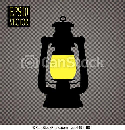 estilo, ícone, símbolo, mina, ilustração, isolado, experiência., vetorial, pretas, branca, lanterna, estoque - csp64911901