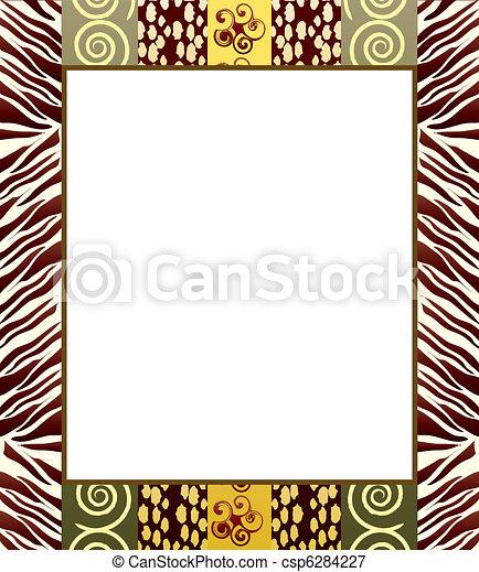 estilo, 2, quadro, africano - csp6284227