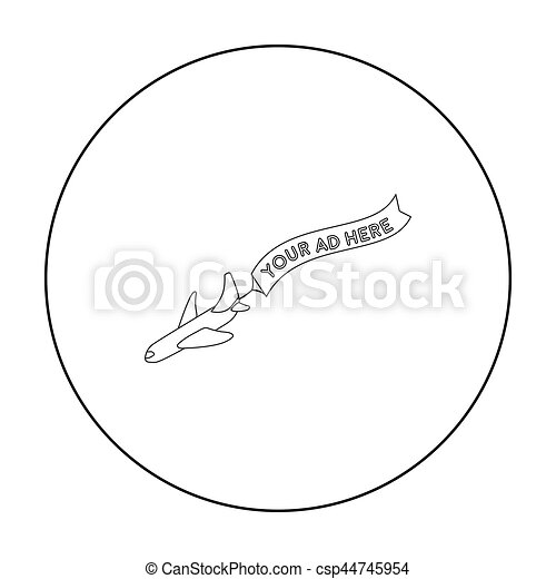 estilo, aéreo, illustration., ícone, símbolo, isolado, experiência., vetorial, anunciando, branca, estoque, esboço - csp44745954