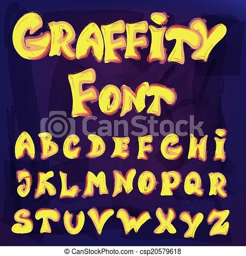 El alfabeto inglés al estilo graffiti - csp20579618