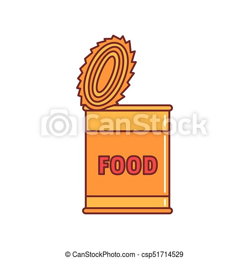 Comida de lata de icono, estilo de dibujos animados - csp51714529
