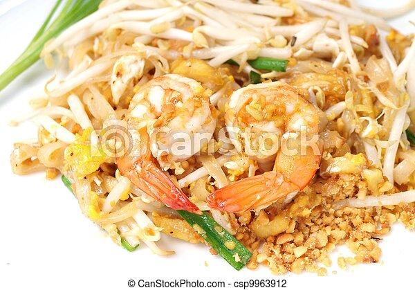 estilo, alimento, n, bata frito, tailandés, arroz - csp9963912