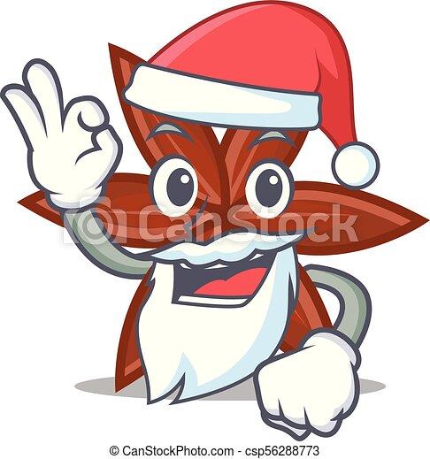 El estilo de la mascota de Santa Anise - csp56288773