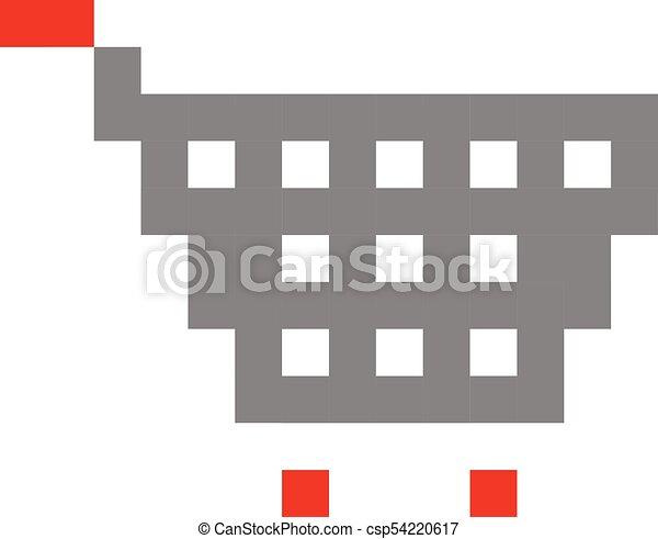 Comprando carritos de pixel arte dibujos animados estilo retrojuego - csp54220617