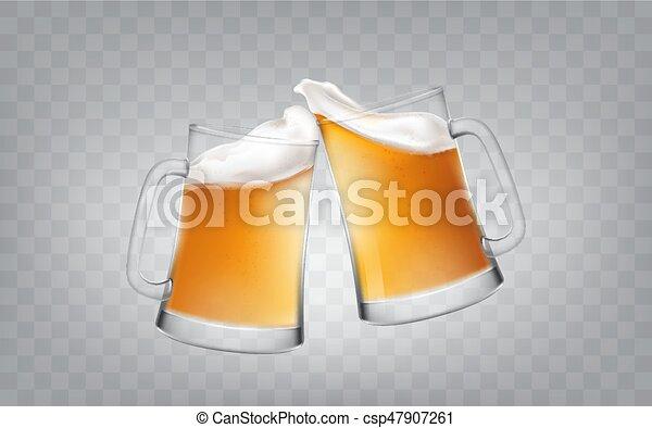 estilo assalta realístico cerveja dois ilustração alegrias