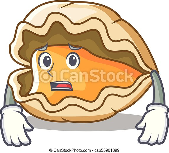 Estilo de dibujos animados de mascota de ostras - csp55901899