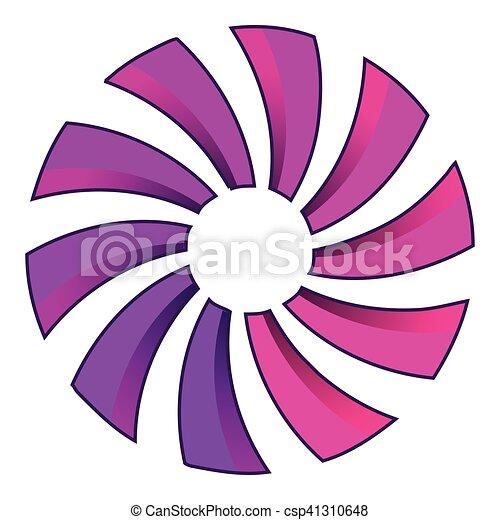 Turbina o icono de hélice, estilo de dibujos animados - csp41310648