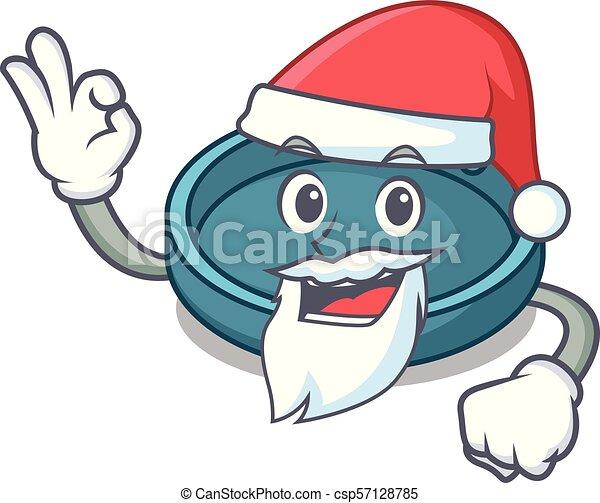 Estilo de dibujos animados de mascota de Santa cenicero - csp57128785