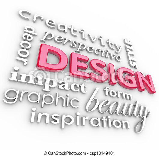 estilo, collage, creativo, diseño, perspectiva, palabras - csp10149101
