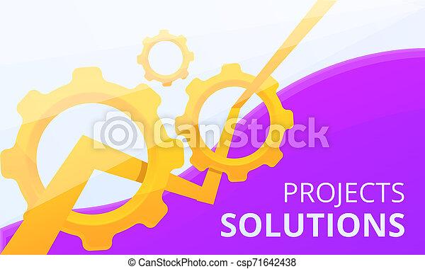 Estandarte de proyecto de solución, estilo de dibujos animados - csp71642438