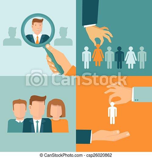 Conceptos de negocios y empleo al estilo plano - csp26020862