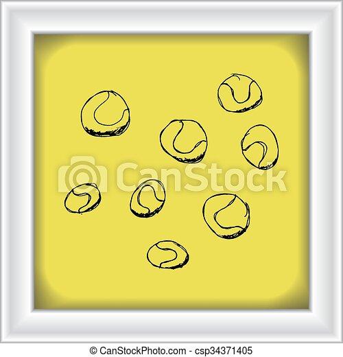 Un juego de dibujos animados - csp34371405