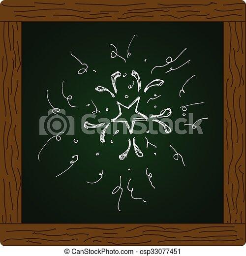 Una serie de fuegos artificiales estilo dibujos animados - csp33077451