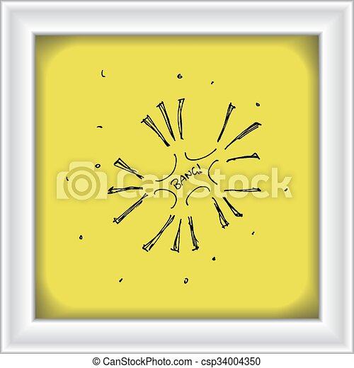 Una serie de fuegos artificiales estilo dibujos animados - csp34004350