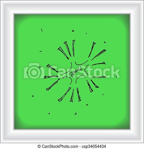 Una serie de fuegos artificiales estilo dibujos animados - csp34054434