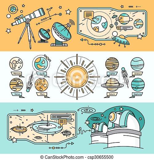 Concepto el cosmos científico al estilo plano - csp30655500