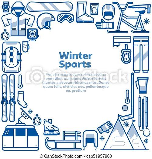 Estilo de vida, marco, frontera, deportes del invierno. Actividades ...