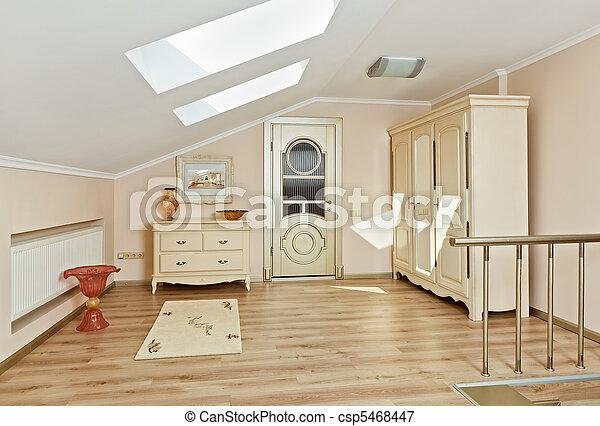 Modern art deco estilo loft interior en colores beige - csp5468447