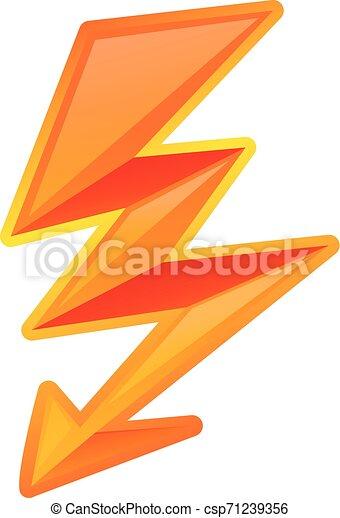 Icono de rayo eléctrico, estilo de dibujos animados - csp71239356