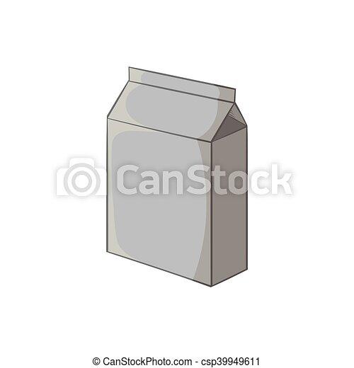 Icono de cartón, estilo monocromo negro - csp39949611