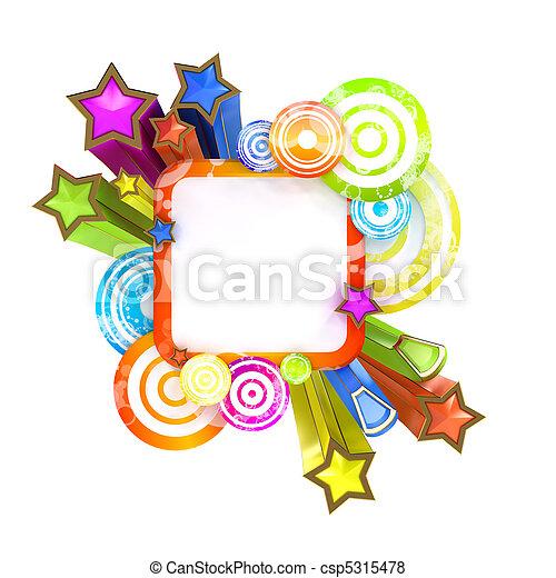 estilo, espaço, isolado, discoteca, fundo, branca, cópia, bandeira - csp5315478