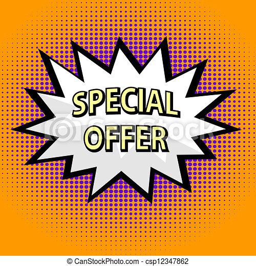 Oferta especial al estilo popart - csp12347862