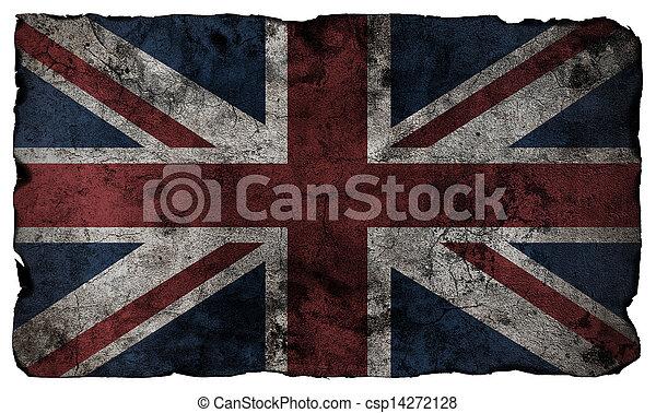 Bandera británica estilo grunge - csp14272128