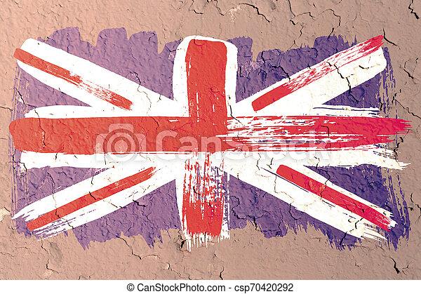 Antecedentes de la vieja bandera británica al estilo grunge - csp70420292
