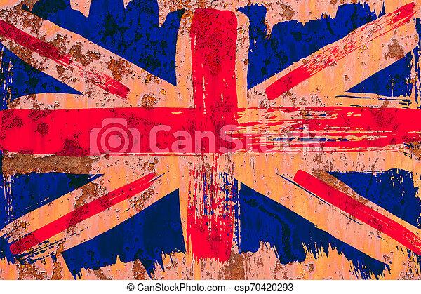 Antecedentes de la vieja bandera británica al estilo grunge - csp70420293