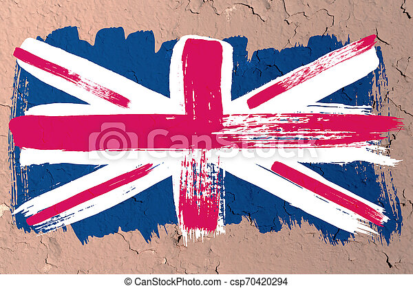 Antecedentes de la vieja bandera británica al estilo grunge - csp70420294