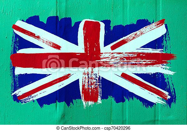 Antecedentes de la vieja bandera británica al estilo grunge - csp70420296