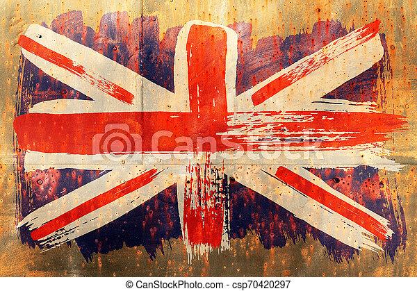 Antecedentes de la vieja bandera británica al estilo grunge - csp70420297