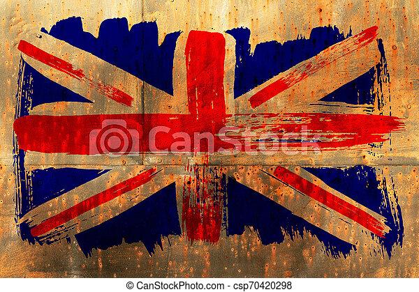 Antecedentes de la vieja bandera británica al estilo grunge - csp70420298