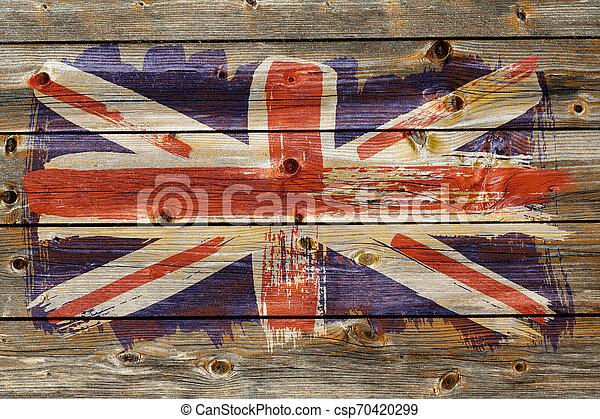 Antecedentes de la vieja bandera británica al estilo grunge - csp70420299