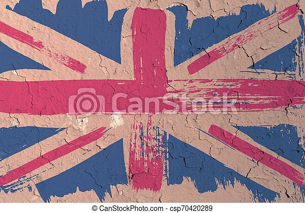 Antecedentes de la vieja bandera británica al estilo grunge - csp70420289
