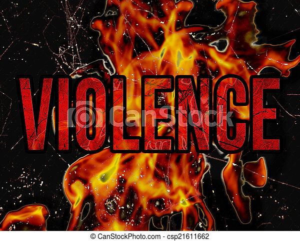 Mecanografía violenta grunge diseño de ilustración de estilo - csp21611662