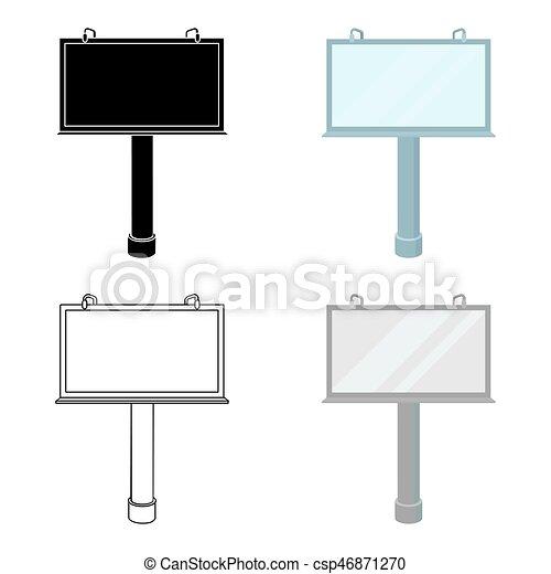 estilo, illustration., símbolo, isolado, experiência., vetorial, anunciando, billboard, branca, ícone, caricatura, estoque - csp46871270