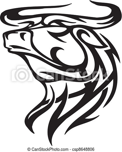 Estilo image tribal vector toro estilo imagen - Dessin de toro ...