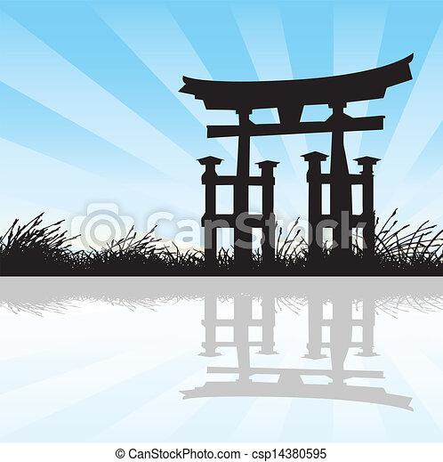 Estilo japonés - csp14380595
