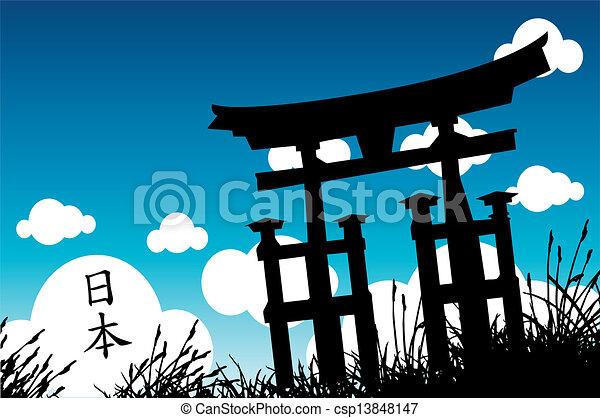 Estilo japonés - csp13848147