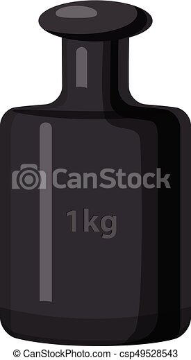 Peso de 1 kg, estilo de dibujos animados - csp49528543