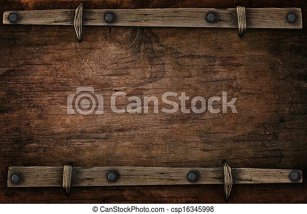 estilo, madeira, ocidental, livre, espaço - csp16345998