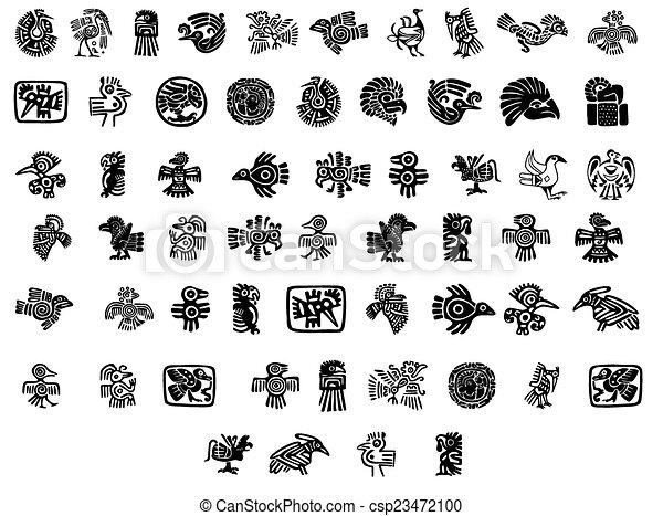 Tatuajes Con Motivos Incas estilo, mexicano, pájaro, motivos.