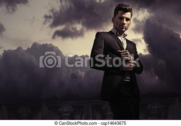 estilo, moda, foto, fantasía, hombre, guapo - csp14643675